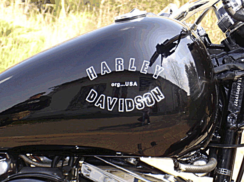 harley davidson tank schriftzug motorrad bild idee. Black Bedroom Furniture Sets. Home Design Ideas